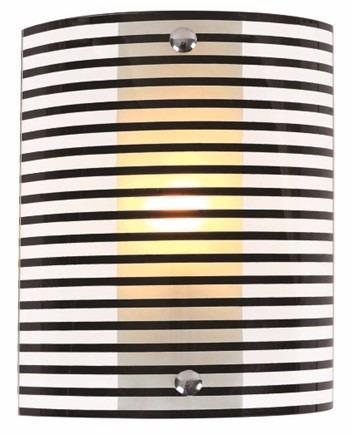 lampara aplique plafon vidrio a rayas para pared 24*18*9 cm
