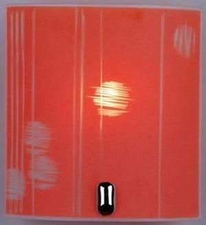 lampara aplique plafon vidrio rectang para pared 22*20*8 cm