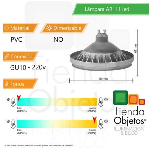 lampara ar111 led candil 12w = 100w 220v 780/830 lúmenes