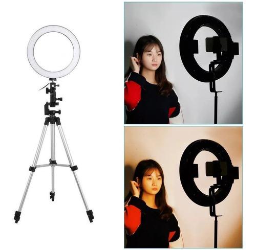 lampara aro luz led fotografia 26cm maquillaje video tripie