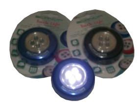 lampara auxiliar 4 leds alto brillo paquete de 3 pzas touch