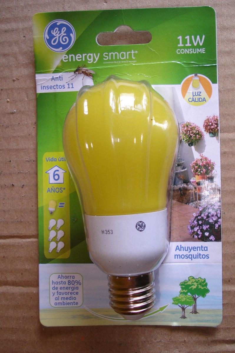 Lampara bajo consumo general electric 11 w anti insectos 240 00 en mercado libre - Lamparas anti insectos ...