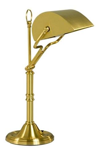 lampara banquero en bronce pantalla direccional bajo consumo