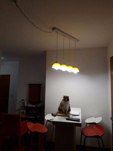 lampara barral moderno cocina para 4 focos