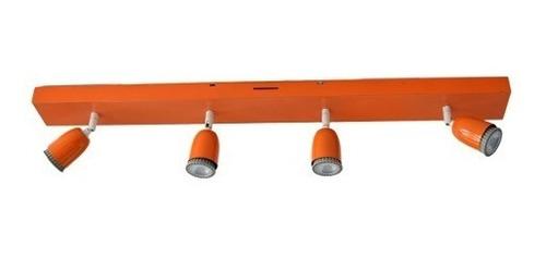 lampara barral techo para 4 luces dicroicas