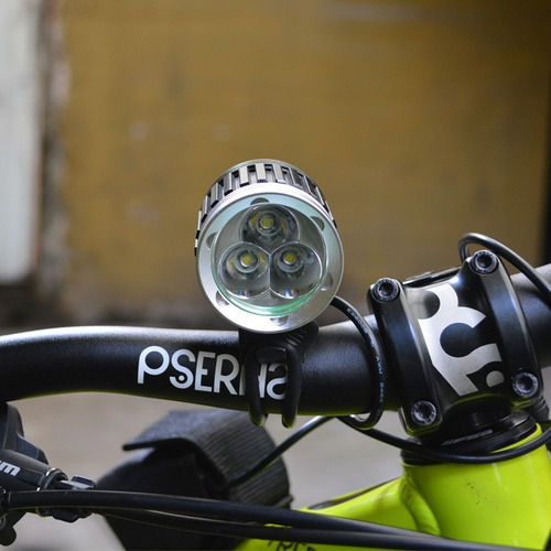 lampara bicicleta 4000 lumens luces led recargable frontal