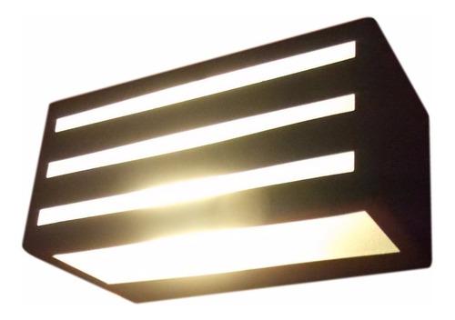 lampara bidireccional 1 luz pared led exterior e27 3001
