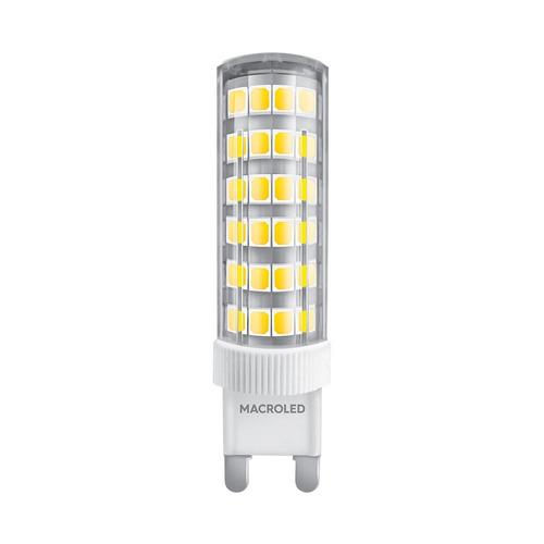 lampara bipin 6w led macroled g9 blanco calido 220v dimeriza