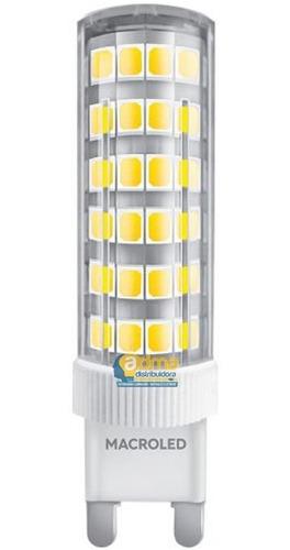 lampara bipin led g9 6w = 50w macroled frio calido garantia