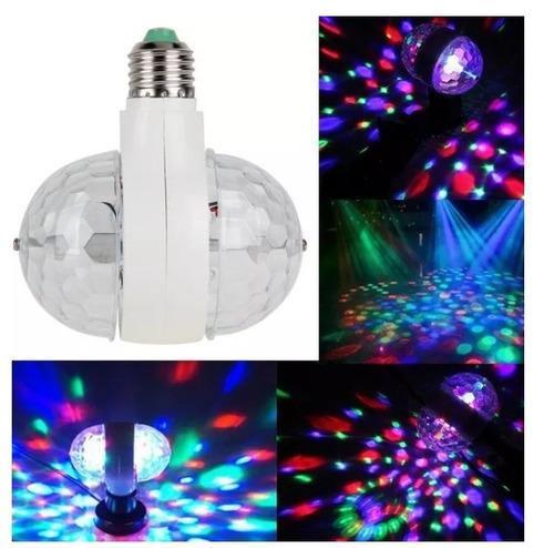 lampara bola doble led efecto rgb luces dj
