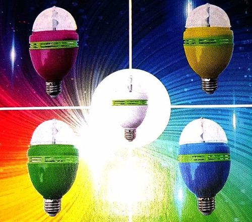 lampara bola led rgb giratoria luces dj fiestas bolita magic