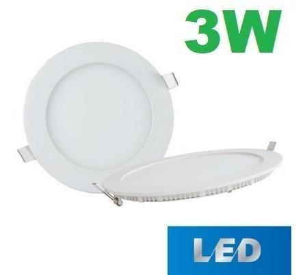 lampara bombillo led panel 3w spot ojo de buey ultrapanas !