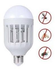 lampara bulbo led 12w blanca mata moscas mosquito insectos