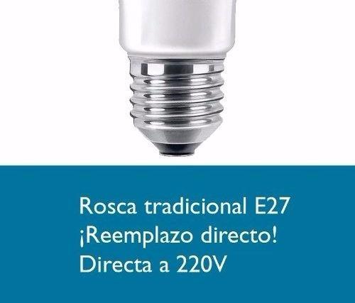 lampara bulbo led e27 15w=150w candil cálida/fría 1521 lumen