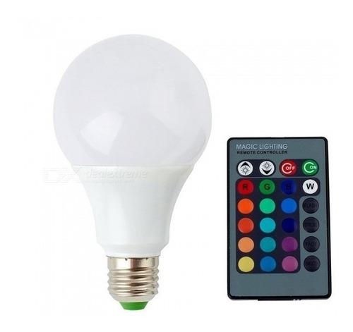 lampara bulbo rgb 7w
