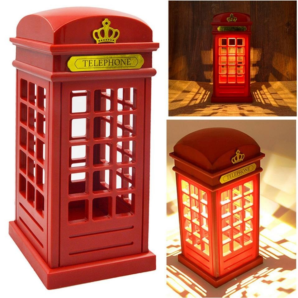 london phone box lamp