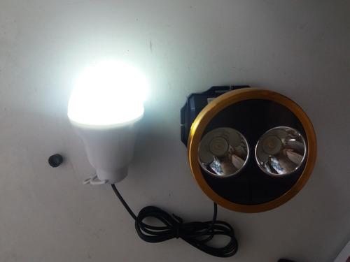 lampara cacería centro led amarillo y blanco recargble