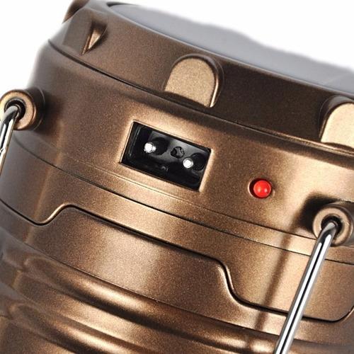 lampara camping mini cargador solar multifuncional usb carga