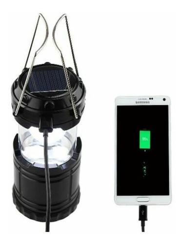 lampara camping solar recargable usb  emergencia led