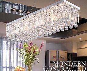 Lámpara Candelabro Candil 5 Luces Para Sala Comedor Rectang.