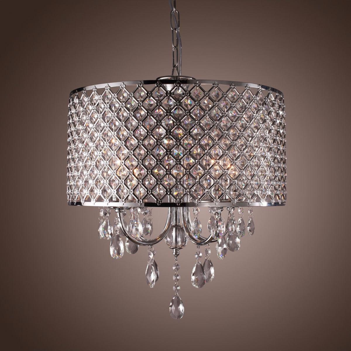 Lampara candil de cristal techo contemporanea moderna - Lamparas de cristal para techo ...