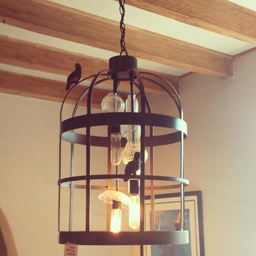 lampara candil solera jaula
