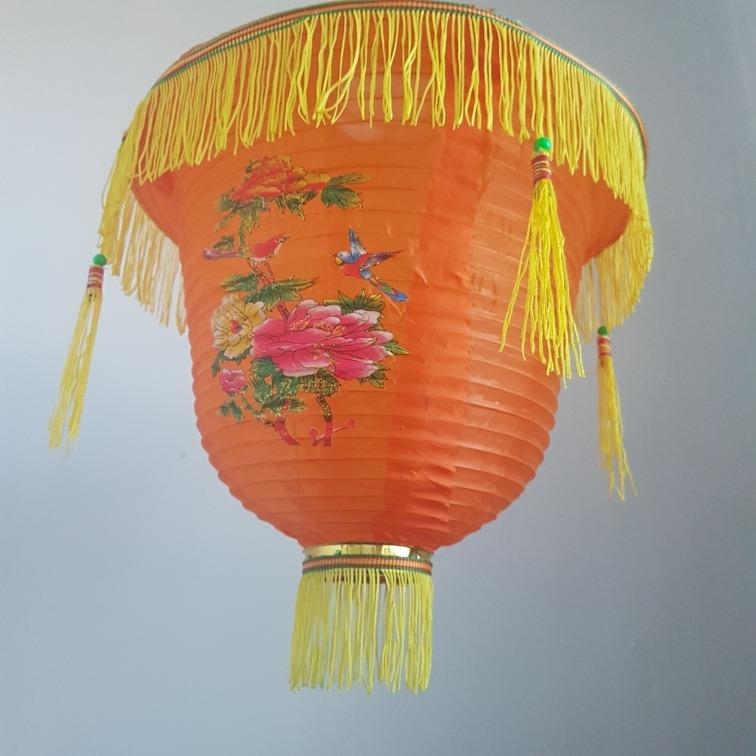 Pagoda China Tela Lampara Chino Pantalla Tradicional Farol xordCBe