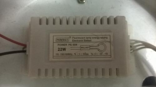 lampara circular 22w sin tubo y sin balastro