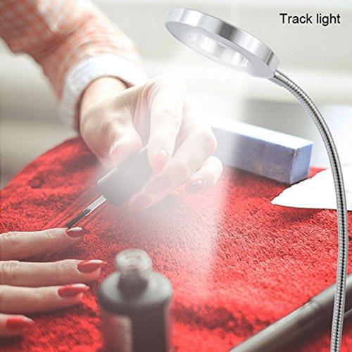 lampara clip escritorio aro led flexible usb uñas pestañas