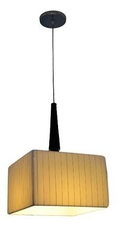 lampara colgante 1 luz cuadrada 30x30x20cm falletina diseño