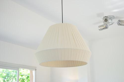 lampara colgante 1 luz diamante tela 40cm diametro