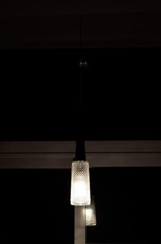 lampara colgante 1 luz e14 diseño acrilico foco led incluido