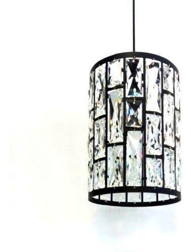 lampara colgante 1 luz metalico y vidrio e27 - lámparas uy