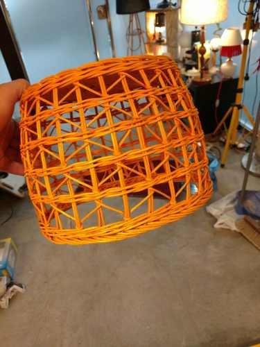 lampara colgante 1 luz rattan edison led incluida