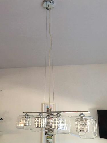 lampara colgante 4 luces bipin excelente estado!