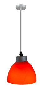 Colgante Rojo E27 60w Luz Lámpara 1 Acero Anaranjado DH2YW9IE