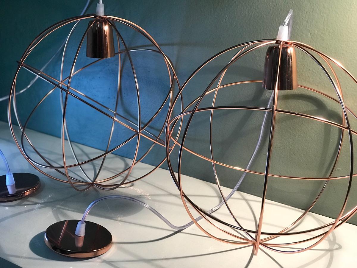 Apto Led Esfera Lámpara Vintage Colgante Alambre Cobre ulK3T1FJc