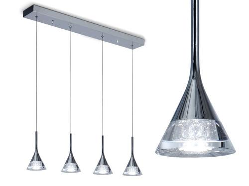 lampara colgante almeria 4 luces led