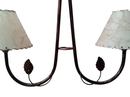 Lampara colgante ara a de hierro moderna rustica 479 - Lampara de arana moderna ...