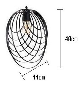 lampara colgante aros vintage 1 luz - lámparas uy