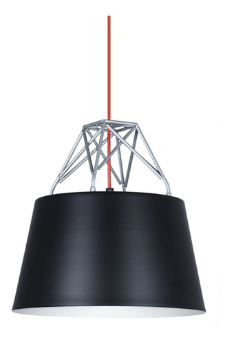 lampara colgante ble negro blanco metal moderno deco living