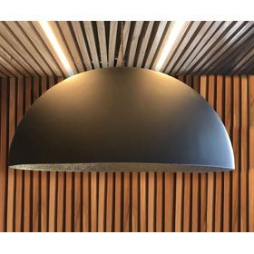 Lampara Colgante Campana 60cm En Resina, Fibra De Vidrio