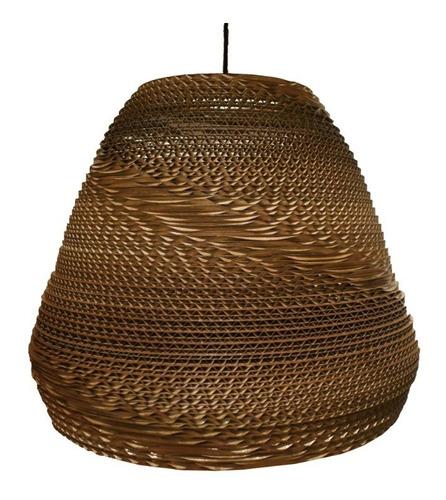 lampara colgante circular cónica q35 cartón corrugado decart