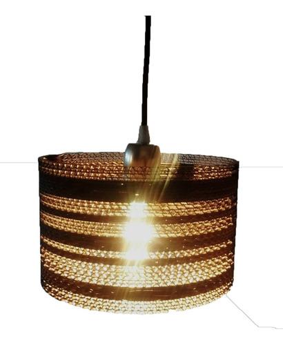 lampara colgante circular q16 cartón corrugado decart