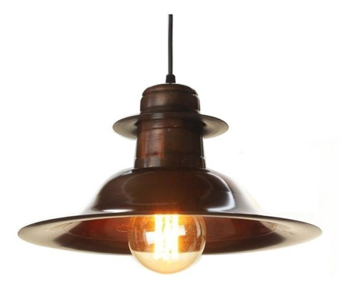 lampara colgante cobreada sombrero vintage