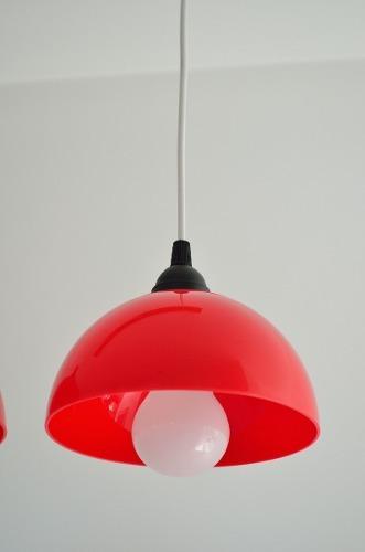 lampara colgante cocina 1 luz semi esfera