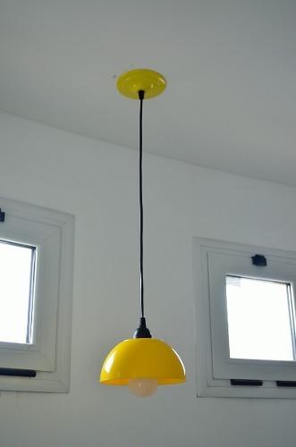 lampara colgante cocina 1 luz semi esfera led 70w incluido