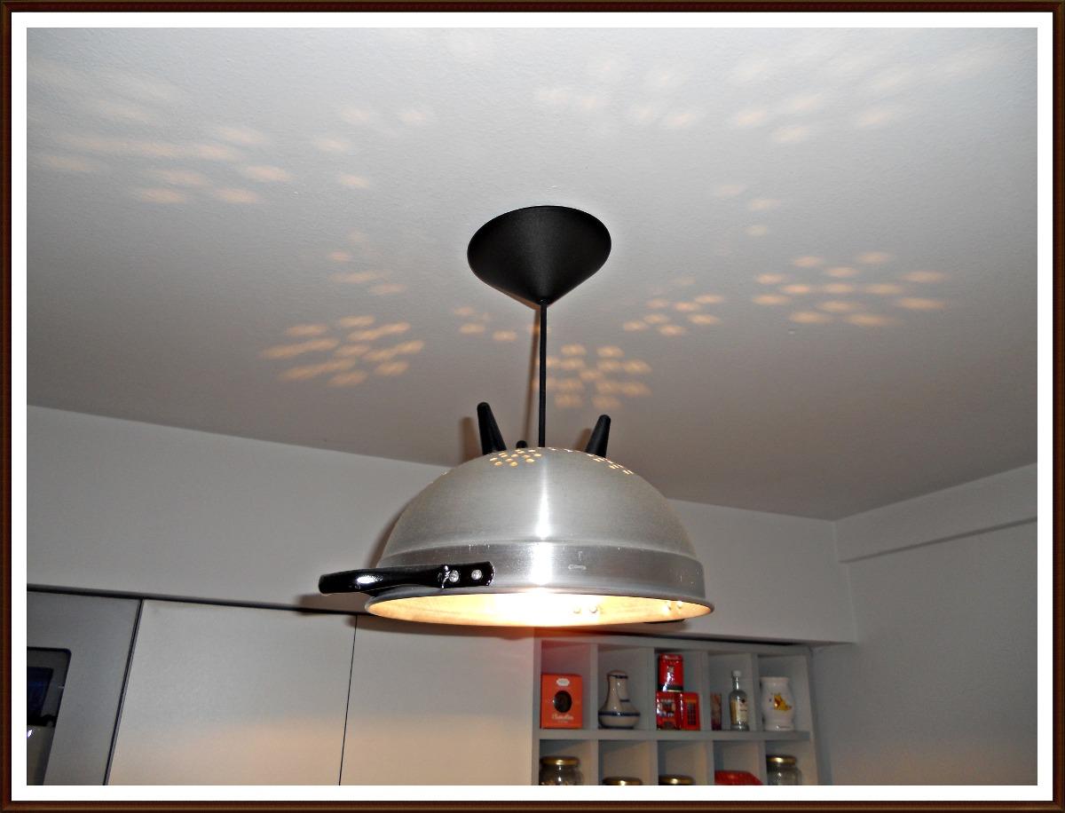 lampara colgante cocina colador