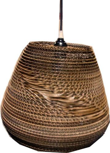 lampara colgante cónica grande decart iluminación sustentabl
