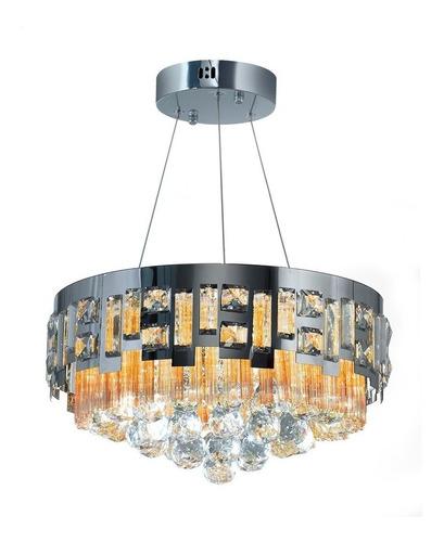 lampara colgante cristal led control remoto 48w victoria  con ahora 18 premium + cuotas